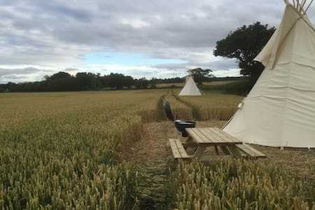 Tipi Glamping in Worcestershire - Wichenford