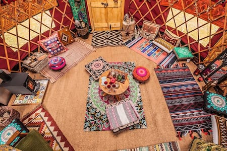 Warm, cosy yurt, sleeps six, self-catering.