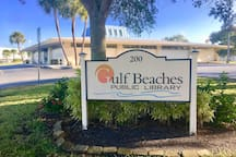 Need a good book to read at the pool or beach.  The Madeira Beach Public Library is right down the street.