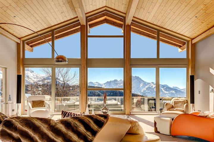 Luxurious contemporary chalet with mountain views - Ollon - Casa