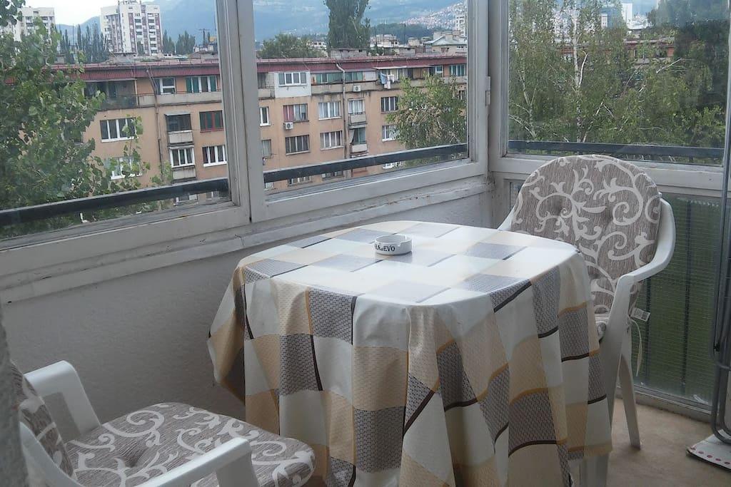 Balcony for breakfast