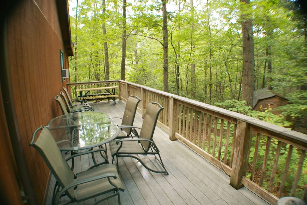 Enjoy the sounds of nature from the deck.