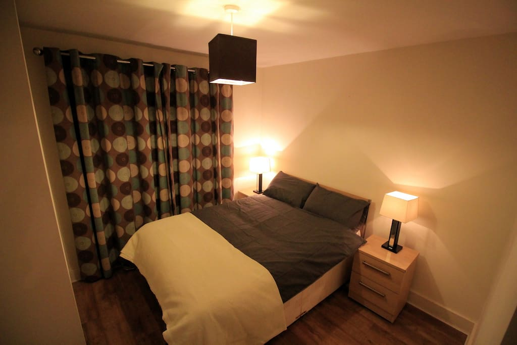 Double bed and the room