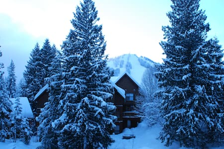 3BR private townhouse on mountain ski to door - Rossland - Townhouse