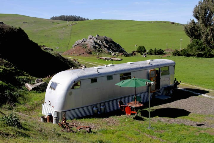 Vintage Trailer near Tomales Bay