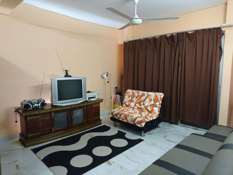Hall with sofa and TV