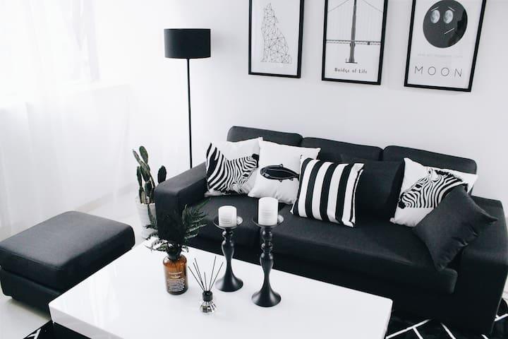 Sen' Home 设计师海景公寓,北欧清新风格超性价比看山看海复式两室一厅整套 嵩屿码头直达鼓浪屿 - Xiamen - Appartement