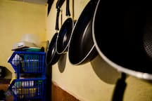 you can  be able use the pans and other kitchen utensils