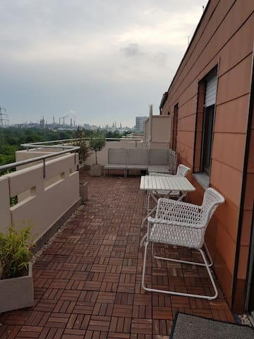 Newly renovated penthouse apartment