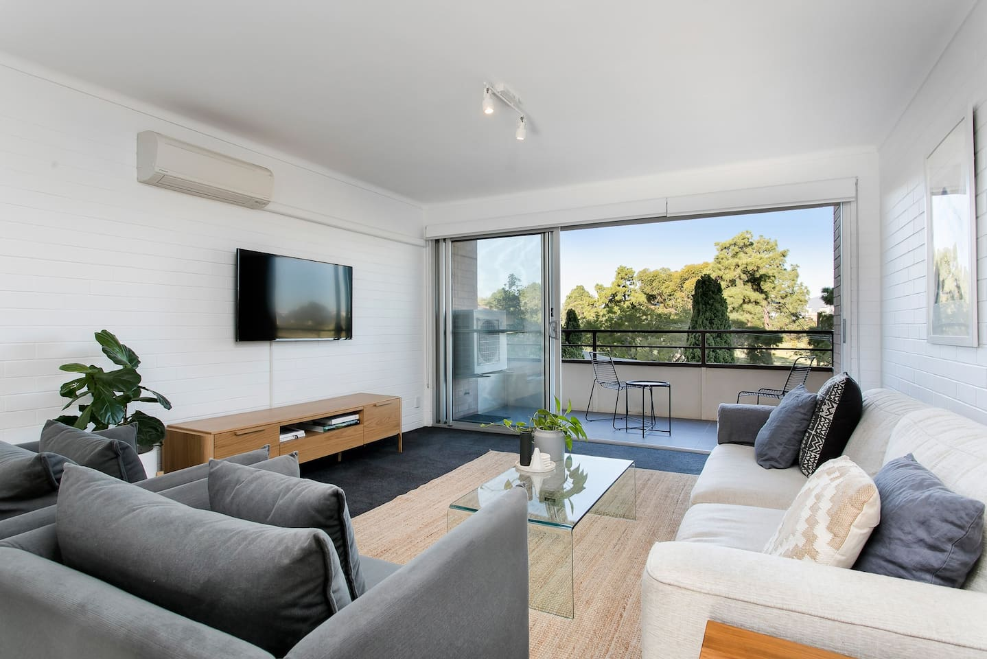 City and Parkland Views from Open Plan Living Room