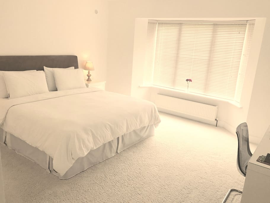 Large, bright, comfortable room with plenty of space for luggage etc.