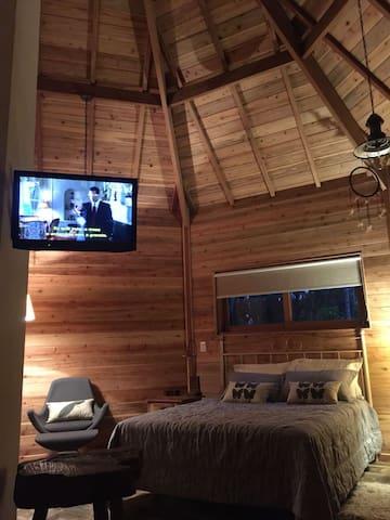 TV com suporte giratório