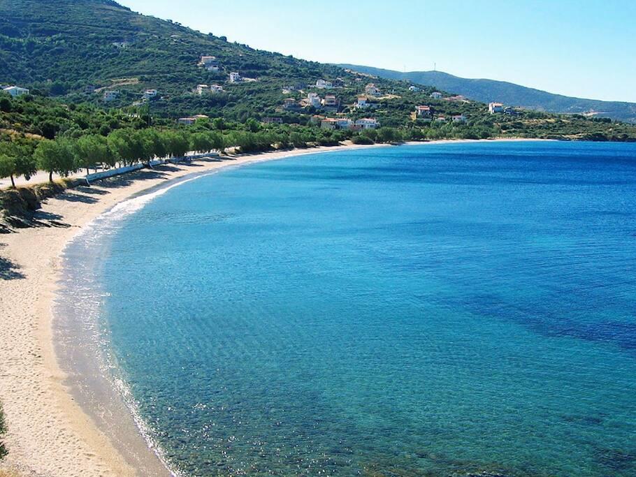 """sandy beach """"Kokkini"""" South Euboea"""