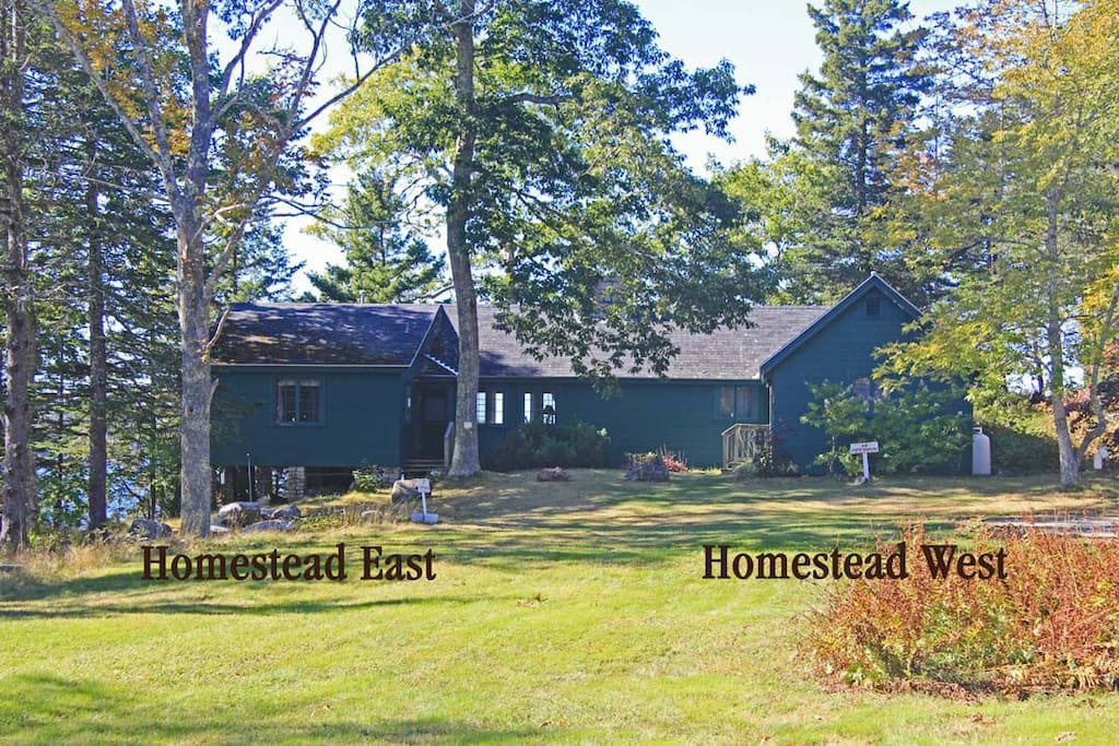 Homestead East and Homestead West are each one side of this duplex. It is great for families or groups. It is connected by a double door passage hall.