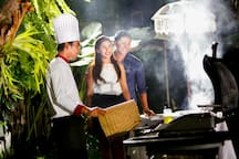 Special dinner  order with barbeque