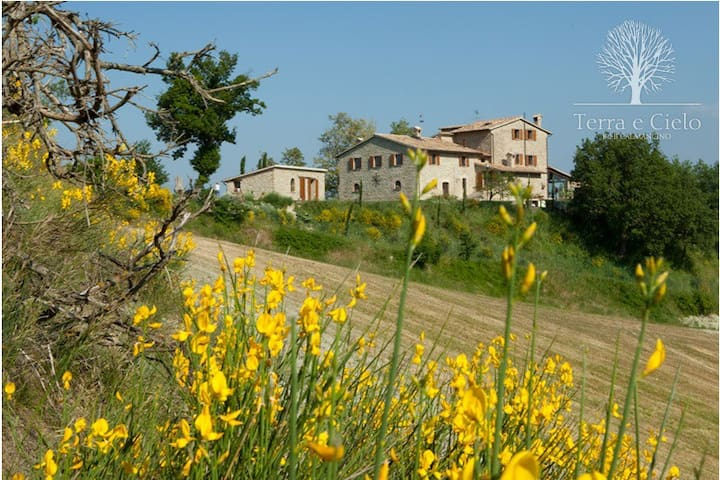 "B&B Terra e Cielo ""Calmancino"" Camera Tripla - Sant'Angelo In Vado - Bed & Breakfast"