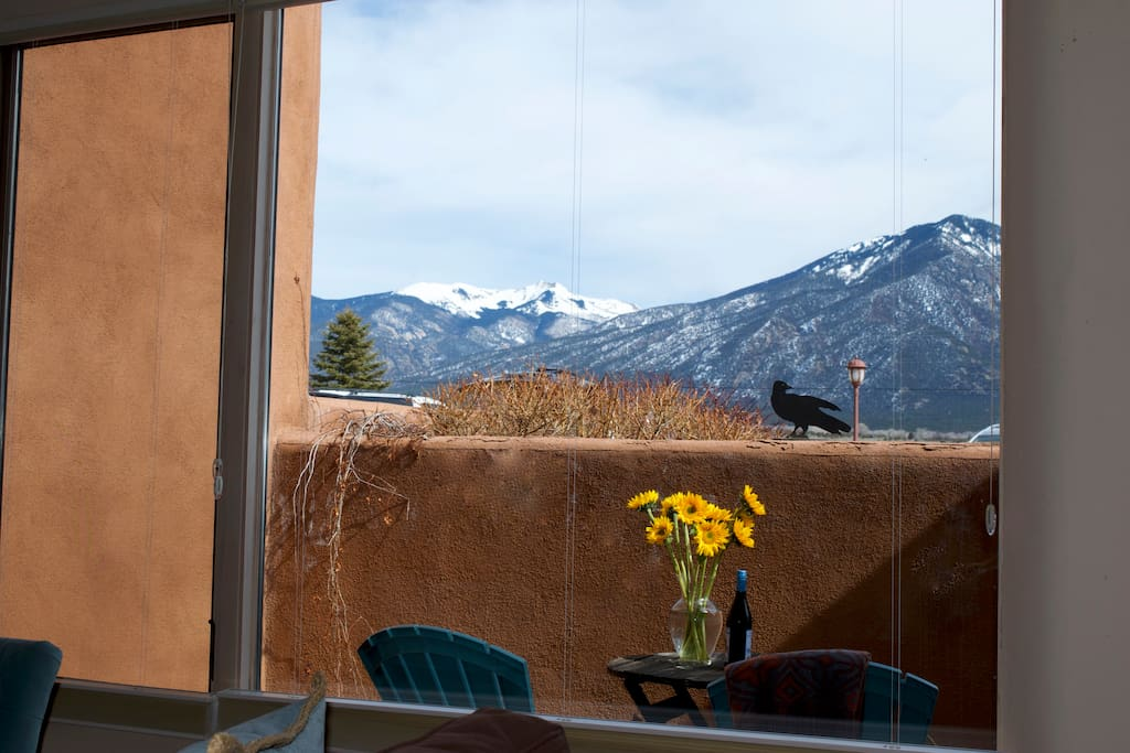 Your Taos Mountain view from the living room