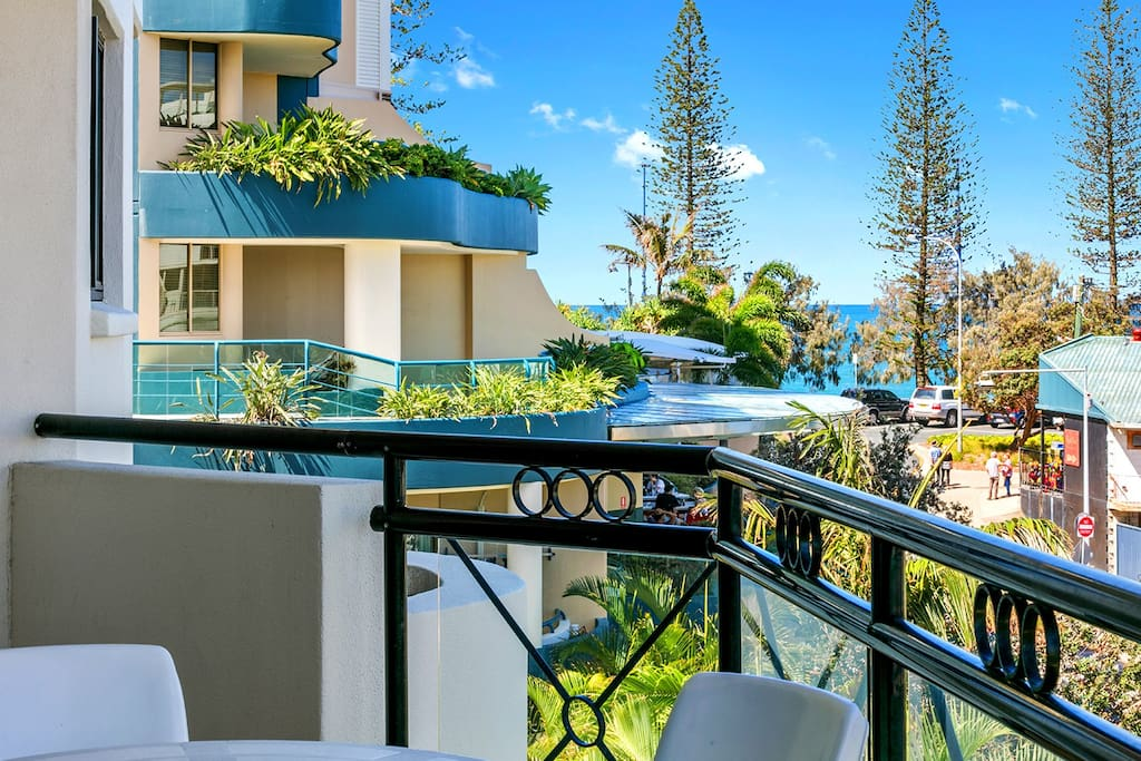 Two Bedroom Apartment with Ocean Glimpse from Balcony
