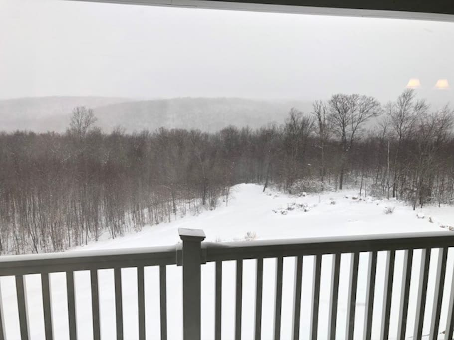 Deck view after a snow storm