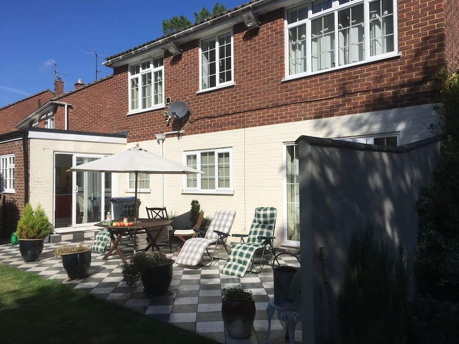 The patio - ideal for sunbathing or chilling out