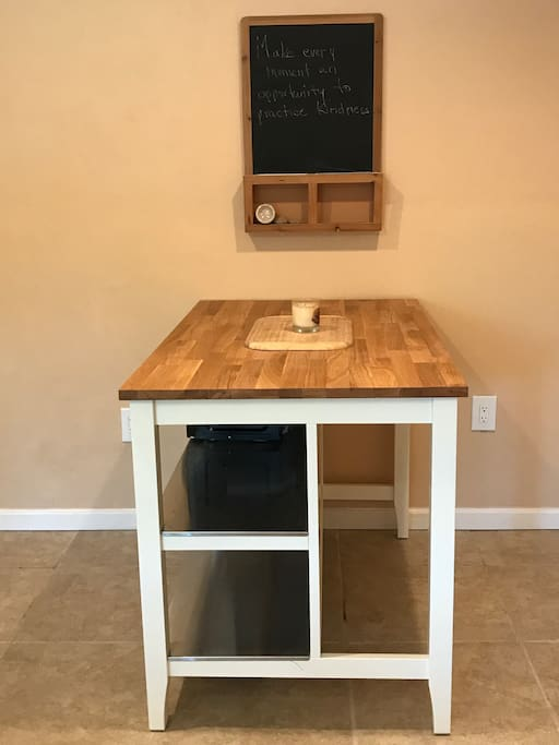 Kitchen Island for seating and extra counter space