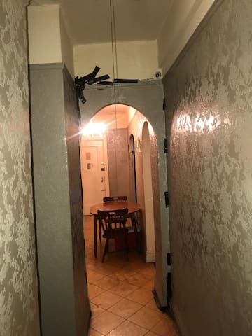 Cameras watching who enter and exits rooms for security purposes and personal privacy for each other inside there rooms and shared areas your belongings are safe In My home