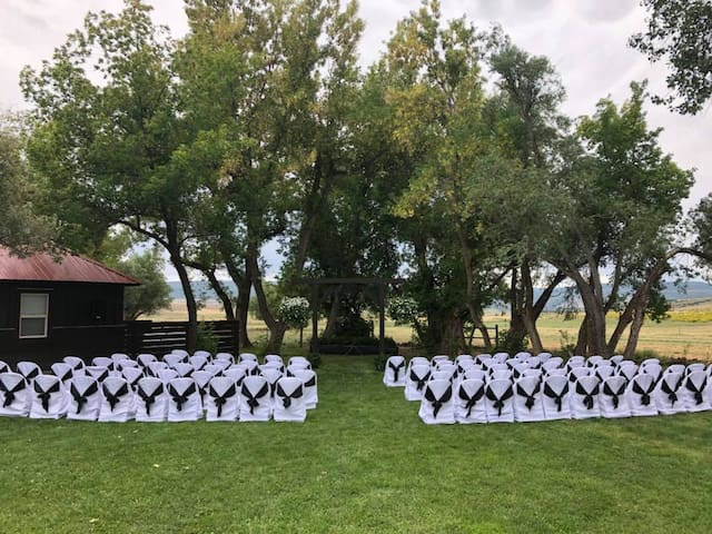 Ask about having your wedding at the Bar 7 Ranch...