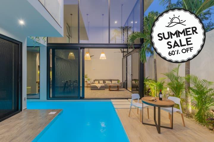 ★BRAND NEW Villa★ Private Pool & Parking 10★