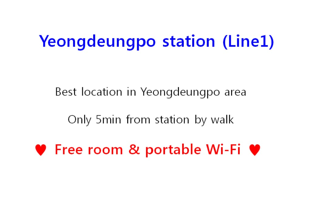 yeong deungpo good location free portable wifi. Black Bedroom Furniture Sets. Home Design Ideas