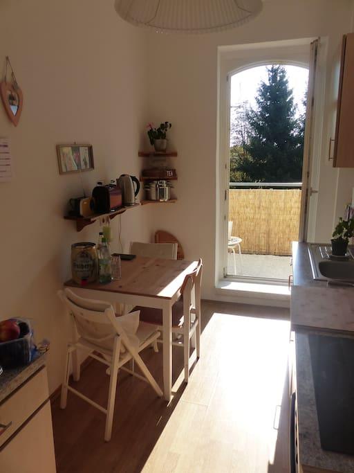 Kitchen and Balcony