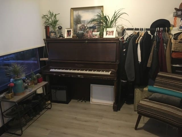 Piano in front room