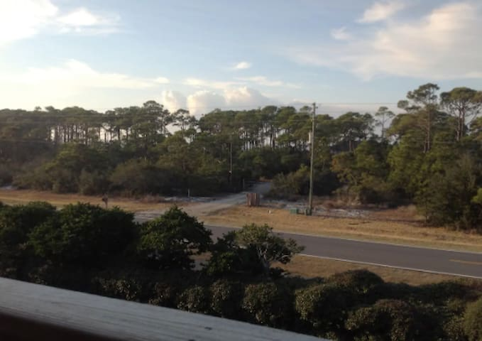 Views of the bay from the master bedroom porch