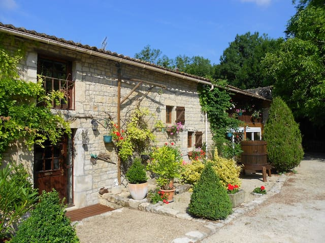 Unique French Watermill cottage - Paizay-le-Tort - Earth House