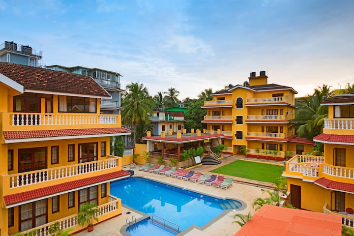 Enchanting Apartment at Candolim beach road