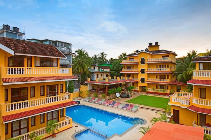 Enchanting Apartment at Candolim beach road