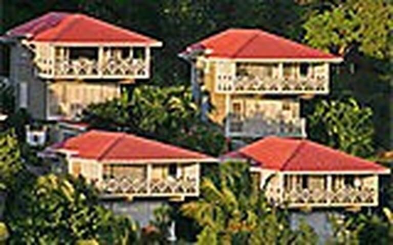 Caribbean cabana with views of lovely Marigot Bay
