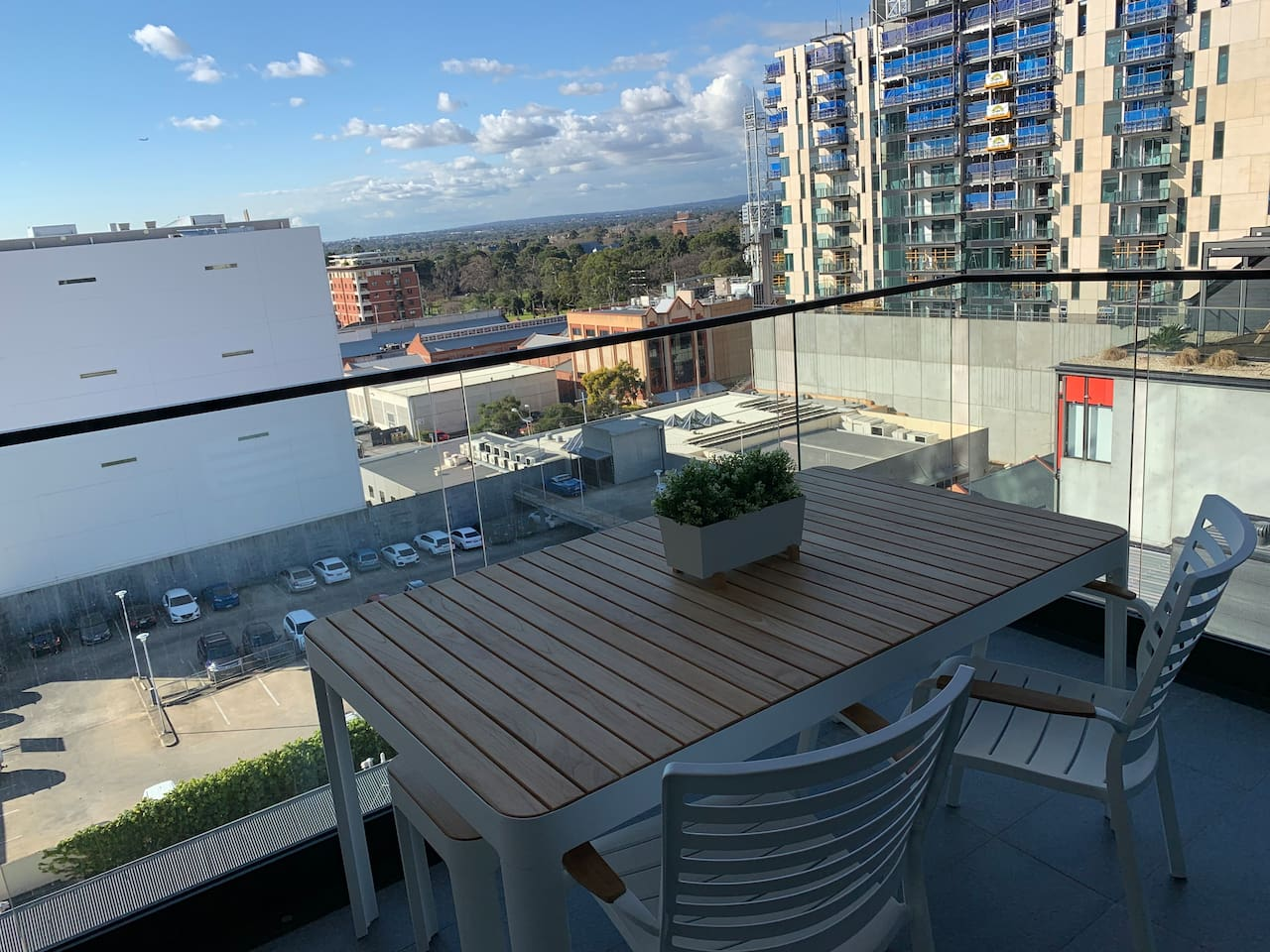 Balcony view North to the East parklands and Adelaide East End