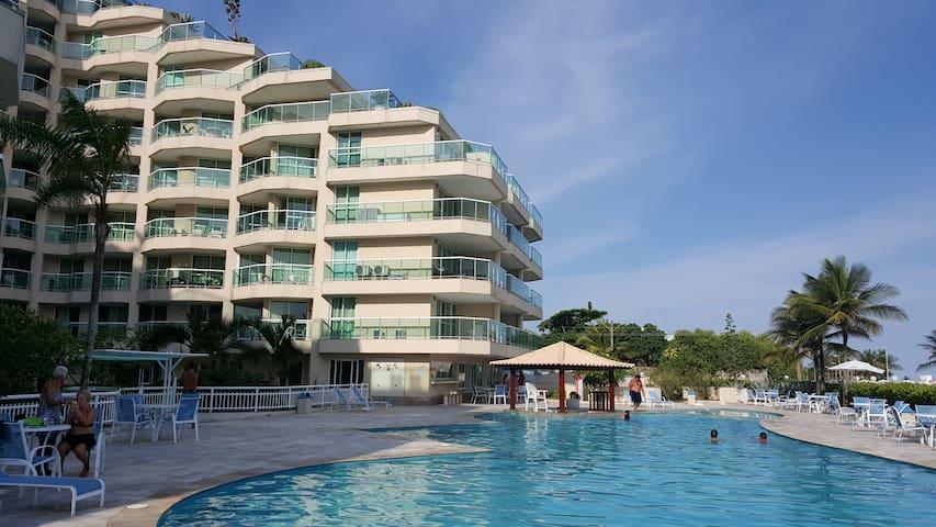 cobertura frente mar apart-hotel com infra total