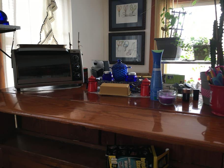 Kitchen, coffee bar