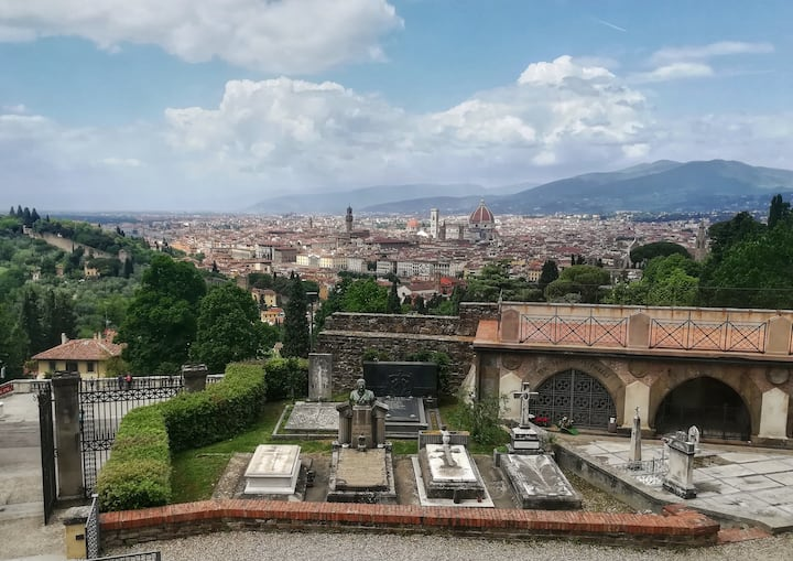 The view of Florence from the Cemetery