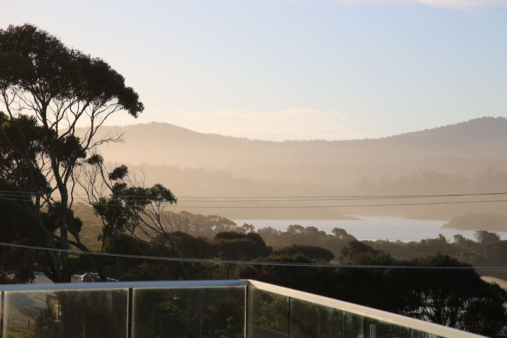 Expansive views from the many balconies from Grants Lagoon to the Bay of Fires