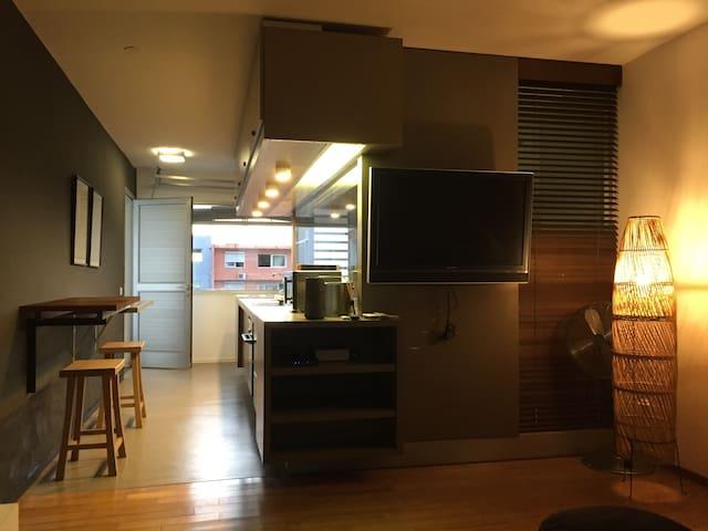 Un vrai beau studio et fonctionnel