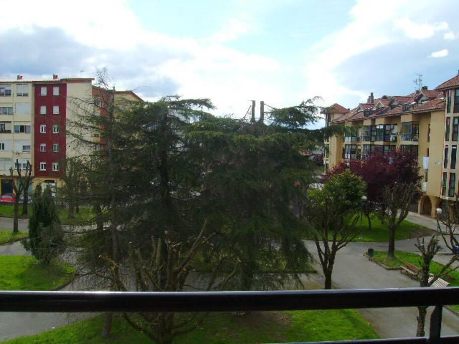 Esta es la vista desde el balcón.