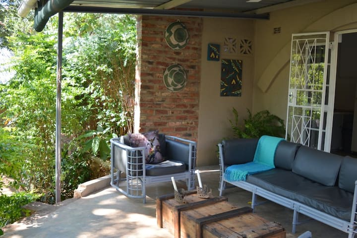 Spacious patio to relax and chill.