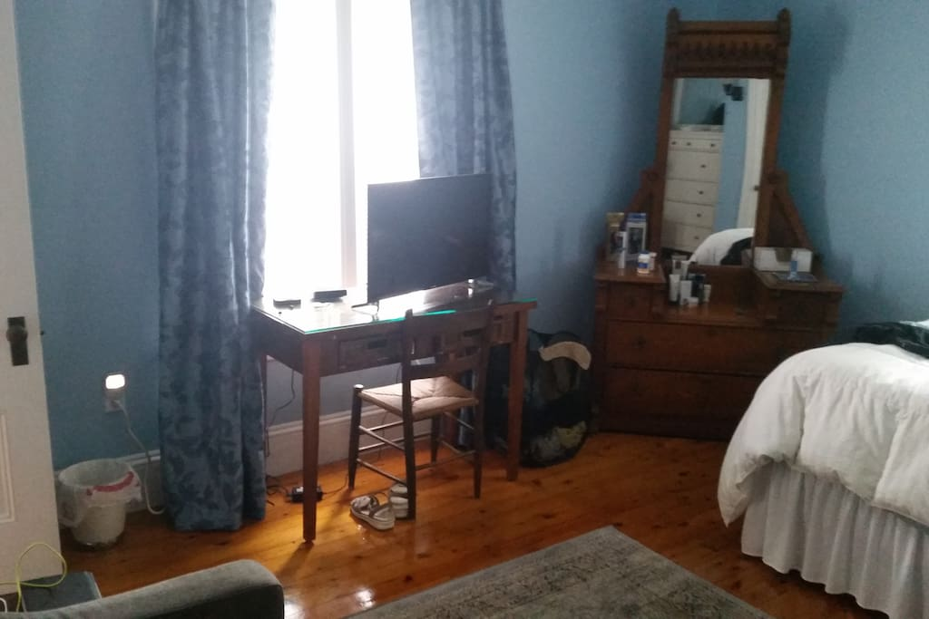Includes 2 dressers, desk, love seat, cable tv & streaming (WiFi included)