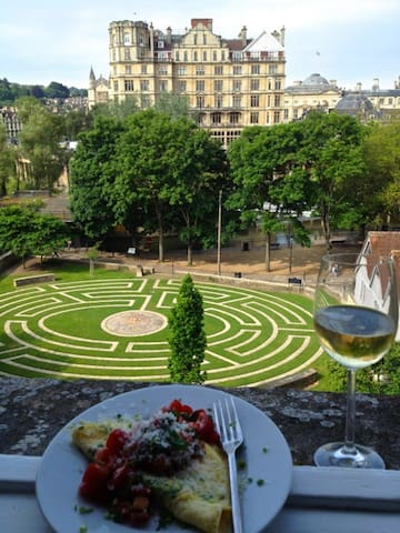 Beautiful city centre flat with abbey views - Bath - Apartemen