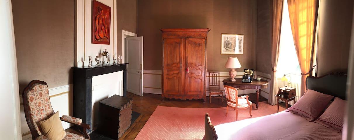 Chambre Parc au Château d'Asnière-Omaha Beach - Asnières-en-Bessin
