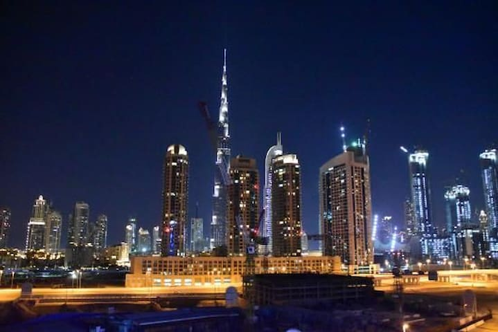 Hotel apartment with Burj Khalifa view