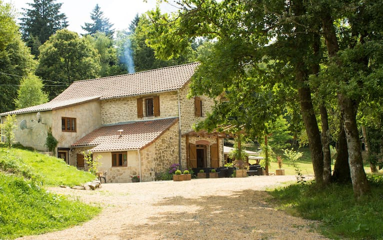 Guest House and Dining in the Limousin Forest - Saint-Léger-la-Montagne - Gästhus