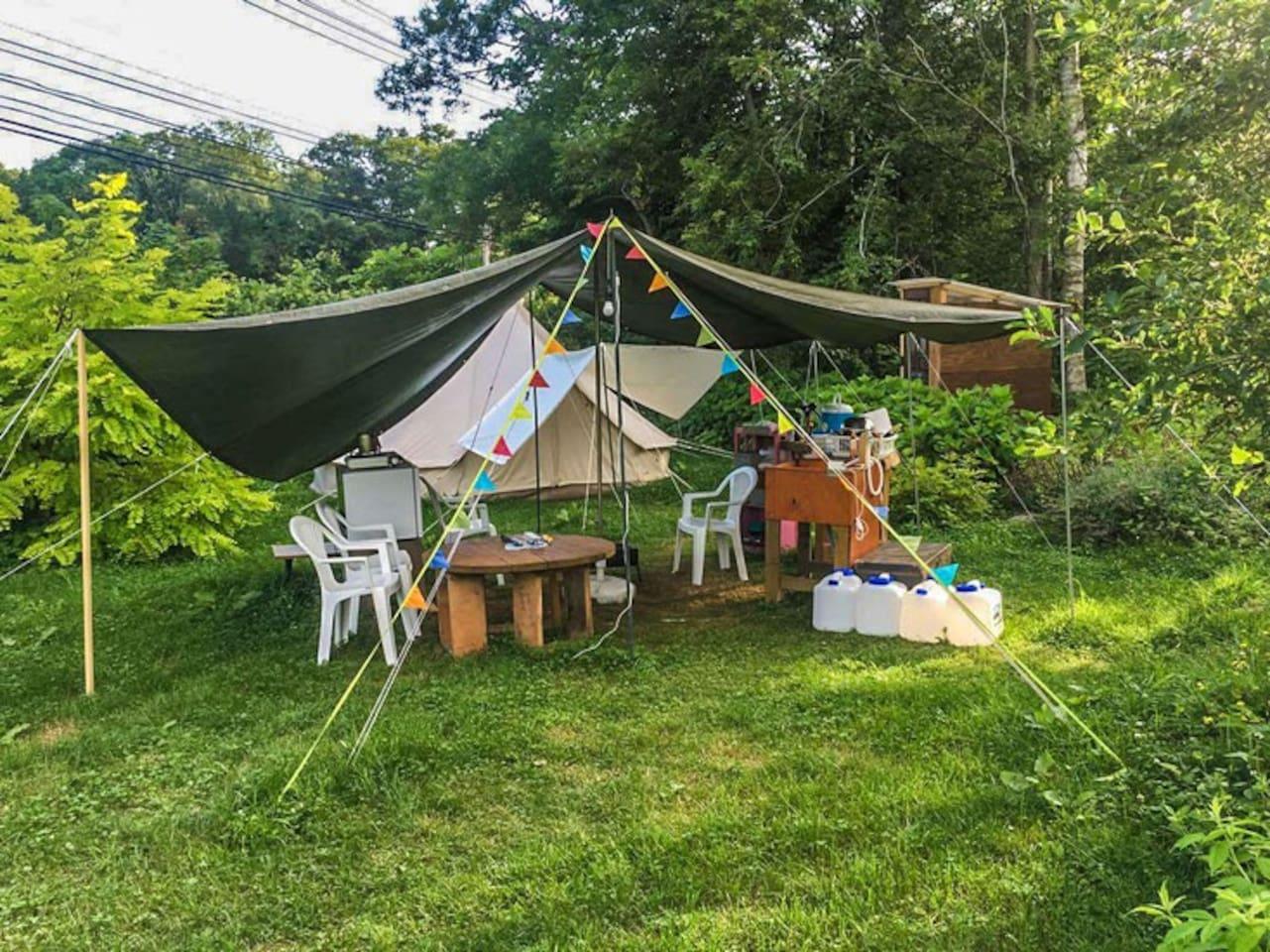 comfortable outdoor tent stay in niseko tipis for rent in 虻田郡